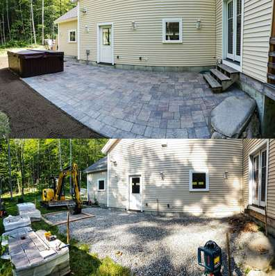 walkway and patio installation needs in Meredith, Plymouth & Holderness, NH and the surrounding areas